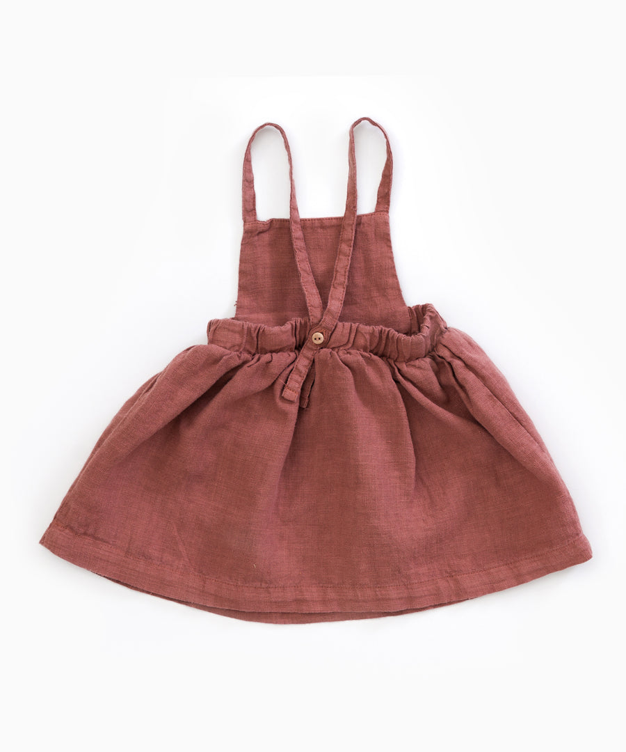 Play Up Old Tile Rust Linen Dress