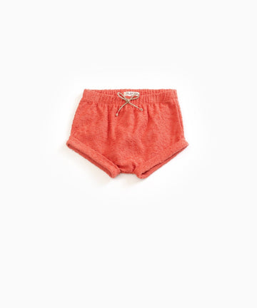 Play Up Peach Organic Cotton Terry Shorts
