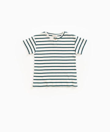 Play Up Old Glass Green Striped Rib Tee Toddler