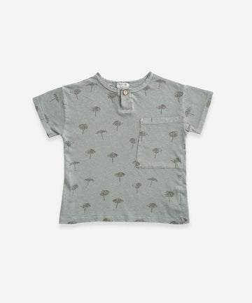 Play Up Organic Cotton/Linen Printed Parasol Tee