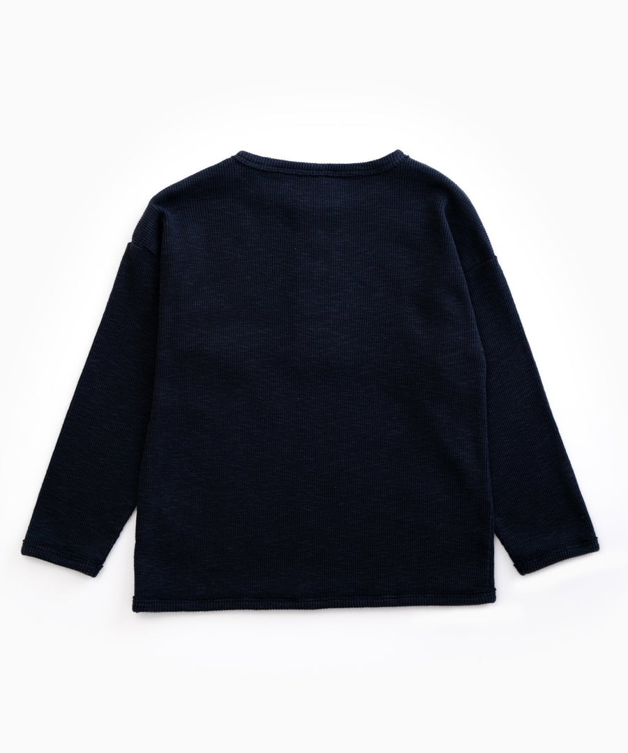 Play Up Organic Cotton Ribbed Long Sleeve Tee
