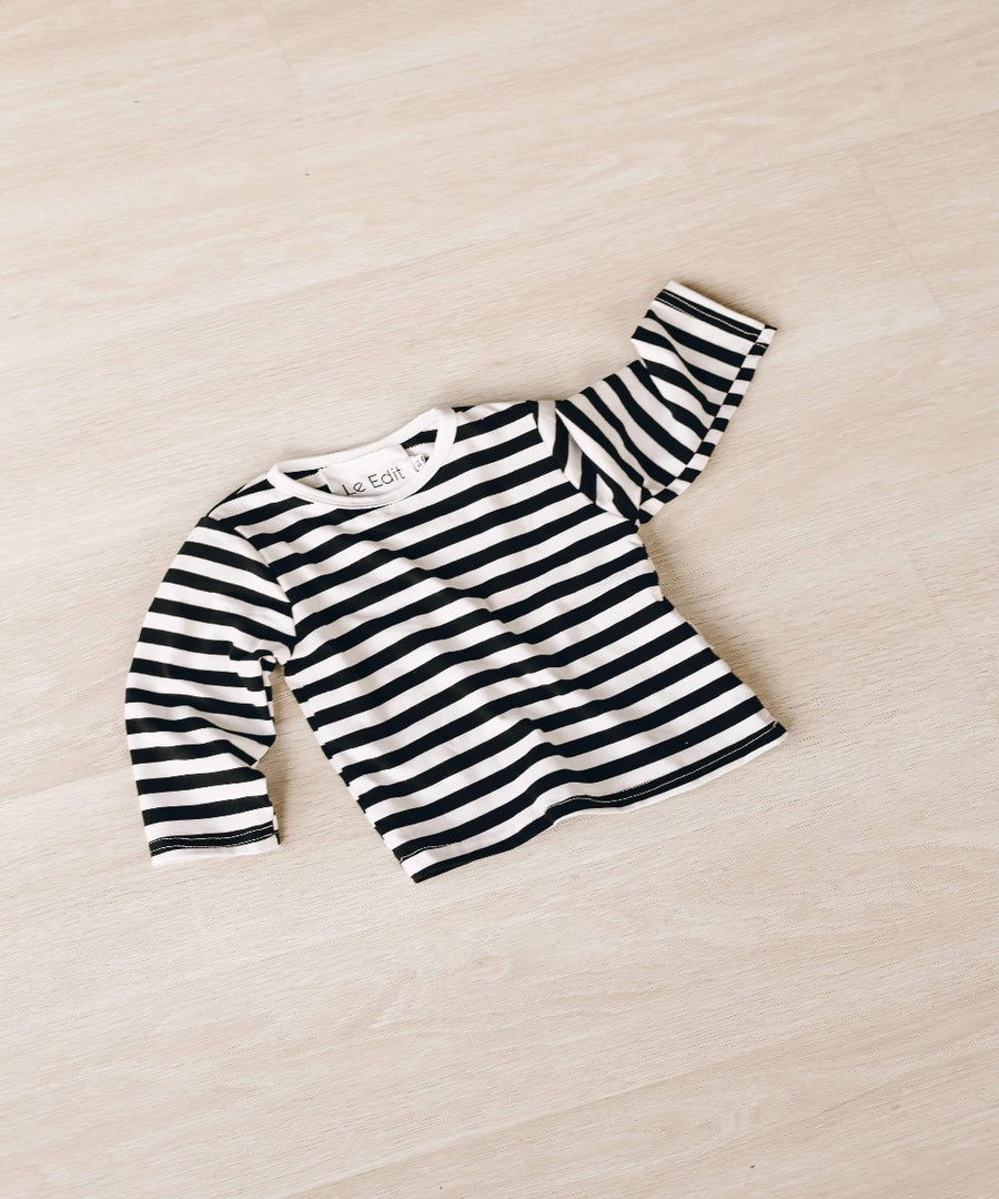 Le Edit Striped Long Sleeve TShirt