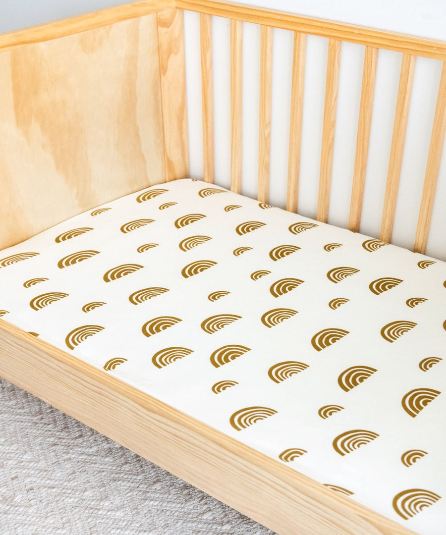 Kiin Organic Cotton + Bamboo Fitted Cot Sheets