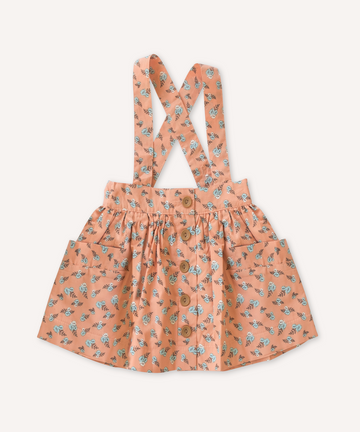 Lacey Lane Cotton Peaches Suspender Skirt