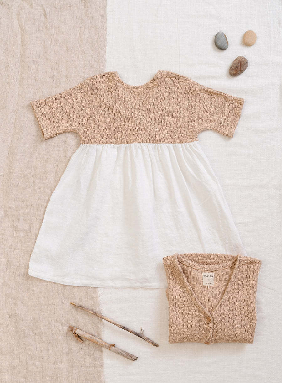 Play Up Organic Cotton/Linen Mixed Dress