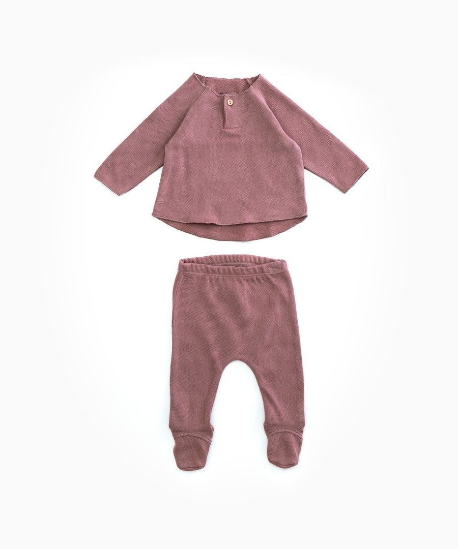 Play Up Organic Cotton Baby Jumper and Pant Set