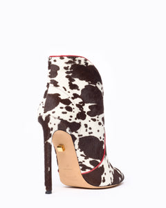 Astrid high-heel calf hair low-cut boots