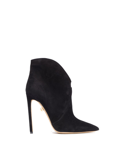 Astrid high-heel suede low-cut boots