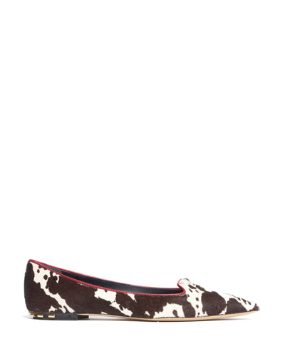 Jimena calf hair ballet pumps