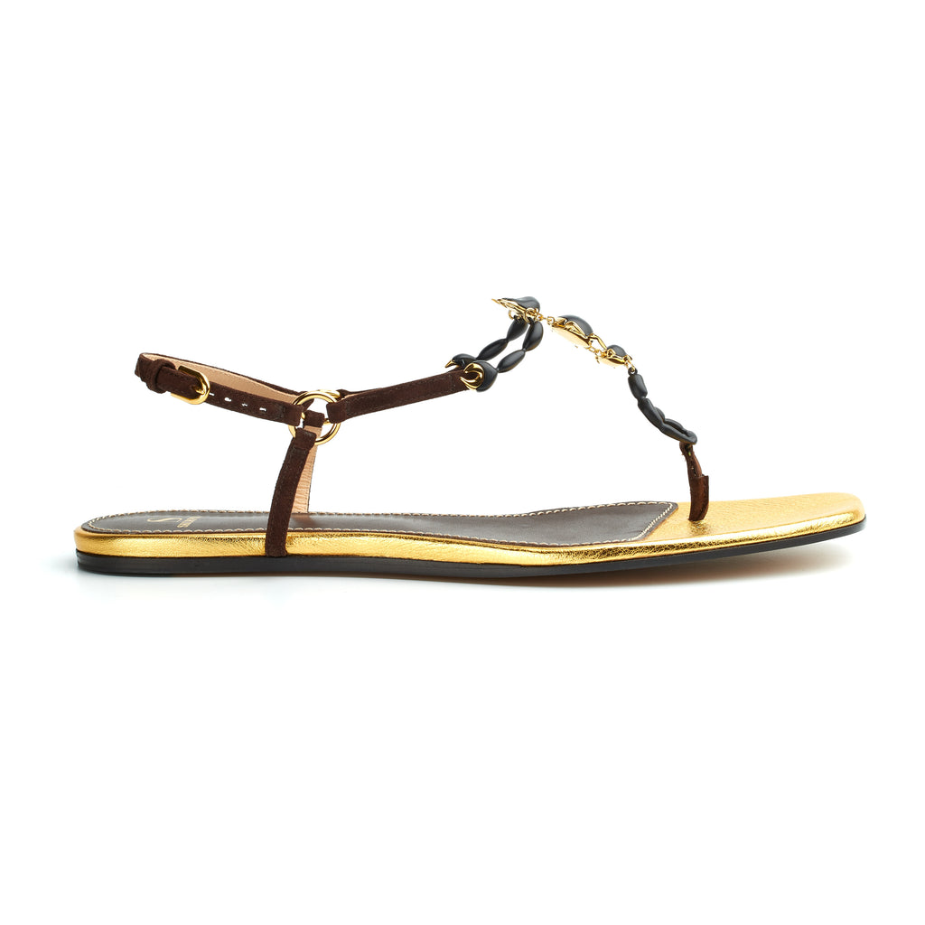 Bianca suede scorpion sandals BOURBON