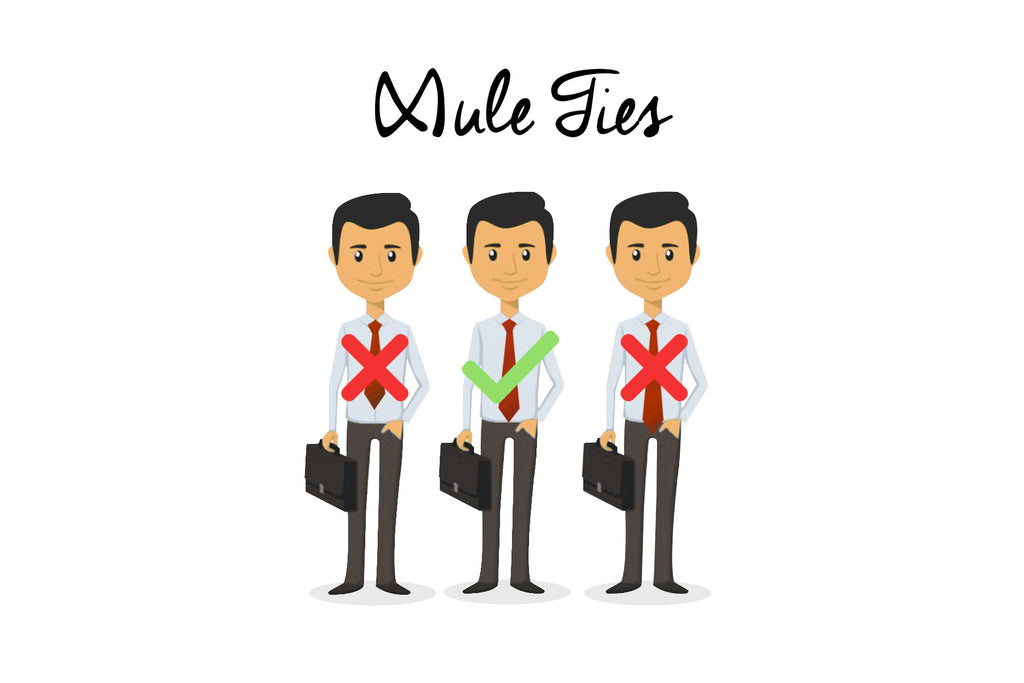 Fashion Tip of the Week - Where to Position Your Necktie Infographic