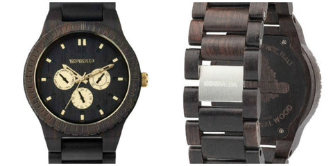 Kappa Black/Gold RO Wewood Watch