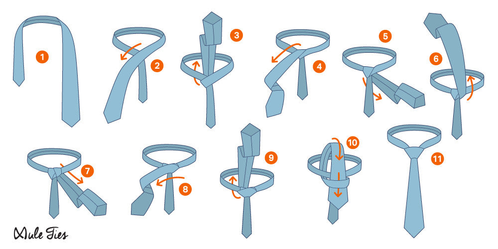 how to tie a windsor knot  - Mule Ties