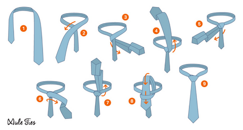 How to tie a tie: The Half Windsor Knot