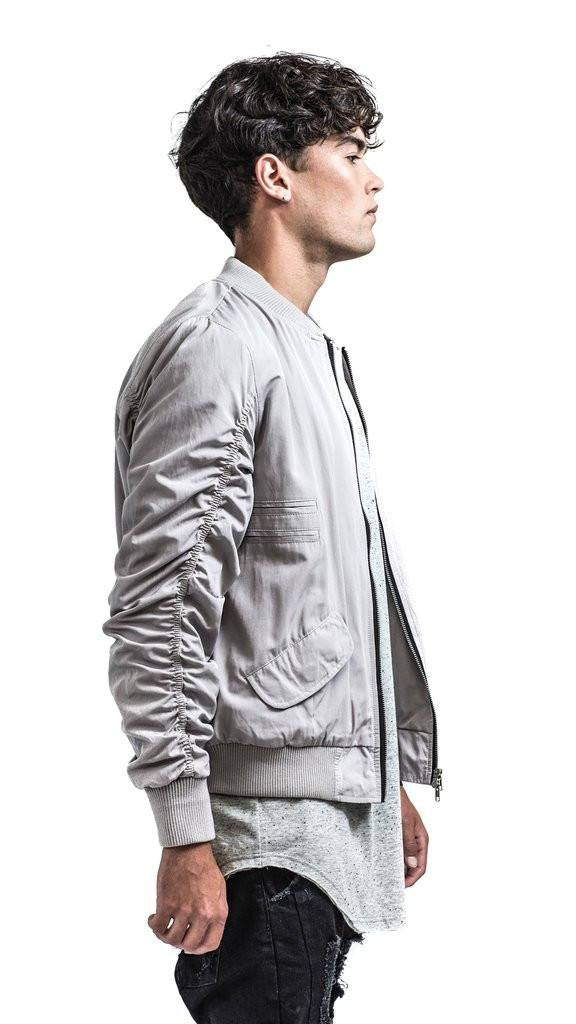 The Hilton Classic Bomber Jacket - Light Grey