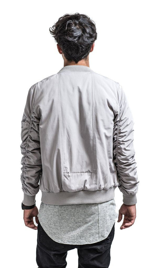 The Hilton Classic Bomber Jacket - Light Grey - Mule Ties