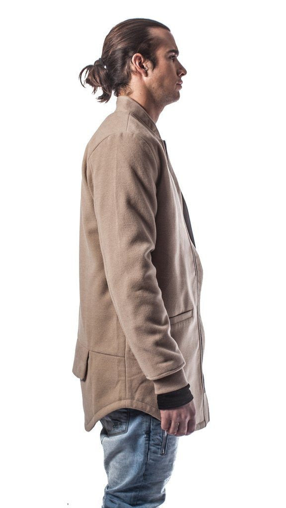 The Smith Elongated Bomber Jacket - Tan - Mule Ties
