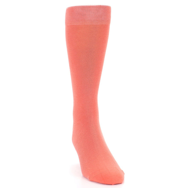 Coral Reef Solid Color Men's Dress Socks - Bold Socks (SKU: 21553) - Mule Ties