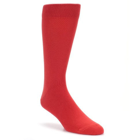 Red Solid Color Men's Dress Socks - Bold Socks (SKU: 21495) - Mule Ties