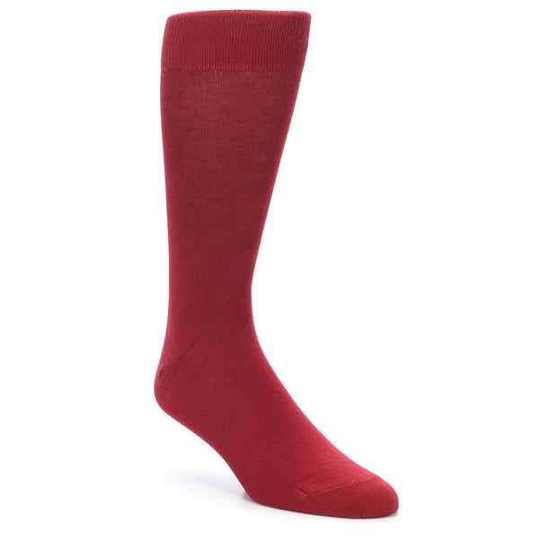 Apple Red Solid Color Men's Dress Socks - Bold Socks (SKU: 21732) - Mule Ties