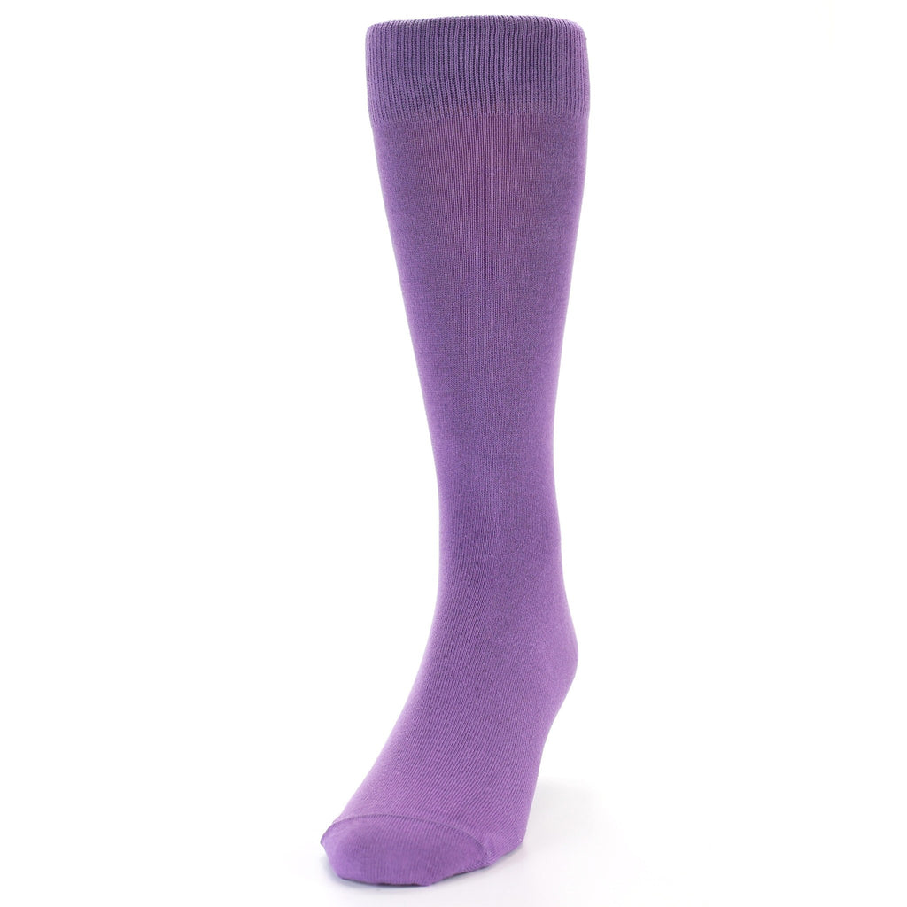 Wisteria Purple Solid Color Men's Dress Socks - Bold Socks (SKU: 21775) - Mule Ties