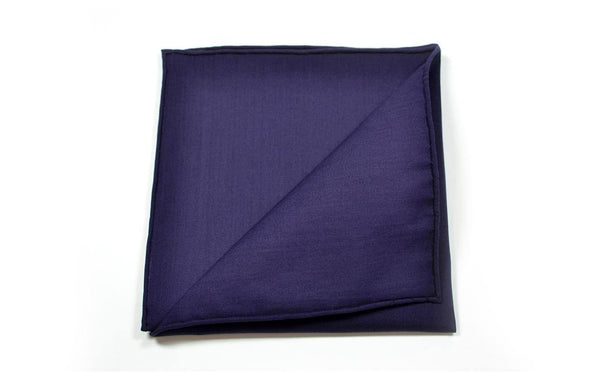 Colour Me Navy Pocket Square Mens Assessory - Mule Ties