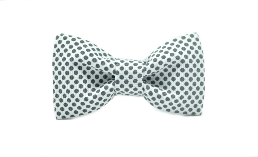 Mr. Giggly Gray Dots Kids' Bow Tie - Mule Ties