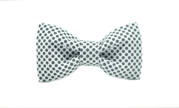 04 Mr. Giggly Gray Dots Kids' Bow Tie - Mule Ties