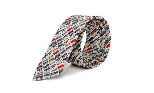 Old School Cassette Tape Skinny Neck Tie - Mule Ties