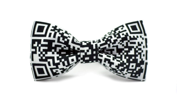 Code Print Ready-to-wear Bow Tie - Mule Ties
