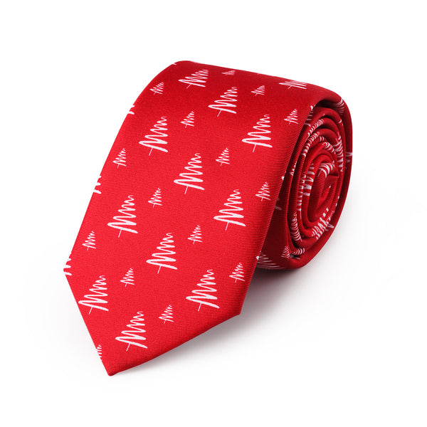 Joyeux Bright Red Christmas Neck Tie - Mule Ties
