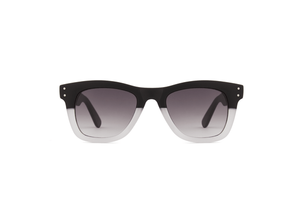Komono - Allen Matte Black Transparent Sunglasses - MuleTies - 1