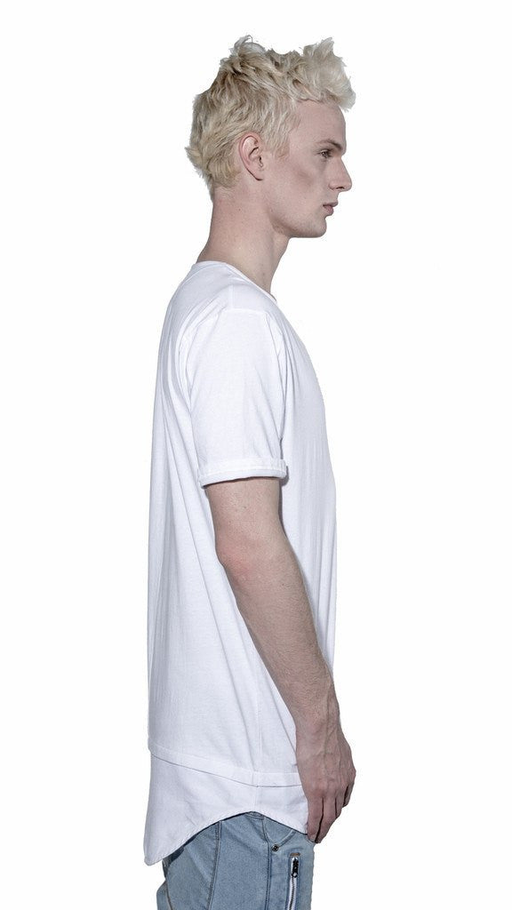 KOLLAR CLOTHING BLANE - PITCH WHITE - TEE ( DOUBLE LAYER ) - MuleTies - 3
