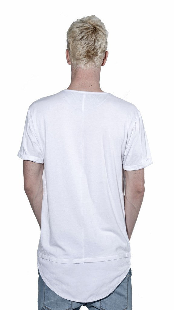 KOLLAR CLOTHING BLANE - PITCH WHITE - TEE ( DOUBLE LAYER ) - MuleTies - 4