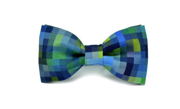 14Mule Blue/Green Lagoon Bow Tie - Mule Ties