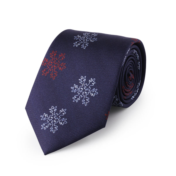 The Night Before Christmas Midnight Blue Neck Tie - Mule Ties