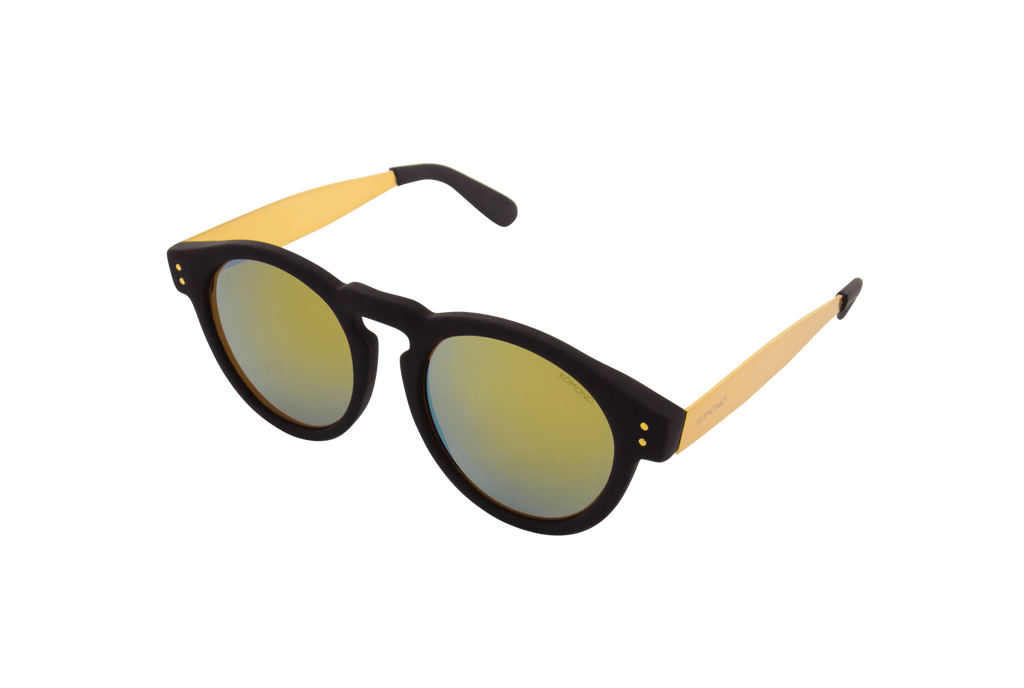 Komono - Metal Series Black Gold Clement Sunglasses - Mule Ties