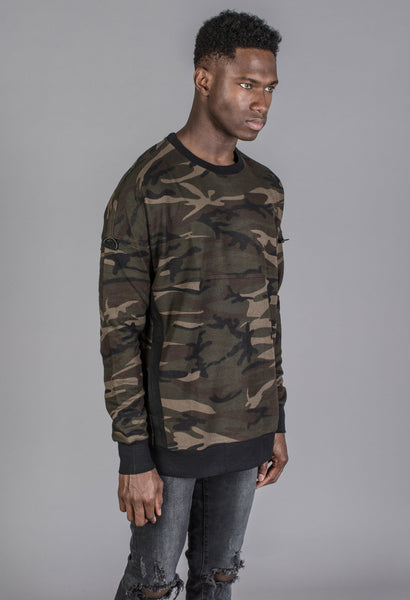 KOLLAR CLOTHING - The Combative Pullover - Camo - Mule Ties
