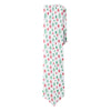 Blanc Merry Christmas Skinny Neck Tie - Mule Ties