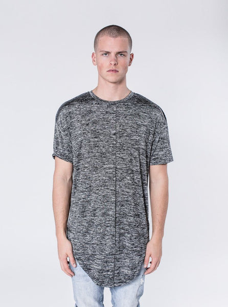 KOLLAR CLOTHING. Floxon - Volcano Grey The Floxon is a double layered scoop tee with cut and sew detailing with drop shoulders. This shirt takes the all of the work out of getting a perfect layered look. This shirt has the signature cut and sew back detailing.