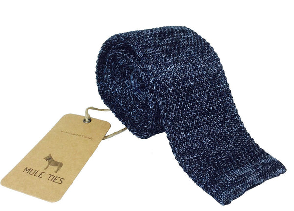 Blue Ash Knitted Tie - Mule Ties