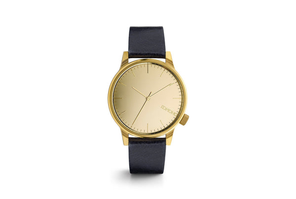 Komono Winston Mirror Watch Gold Navy - Mule Ties