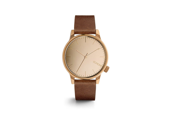 Komono Mirror Watch Rose Gold Cognac - Mule Ties