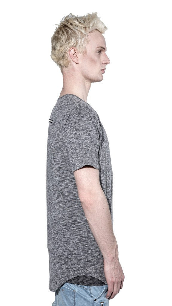 KOLLAR CLOTHING OTIS - DARK HEATHER GREY- TEE ( DOUBLE LAYER ) - Mule Ties