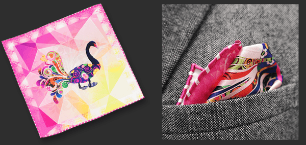 Mrs. Ducky Silk  Pocket Square - Mule Ties