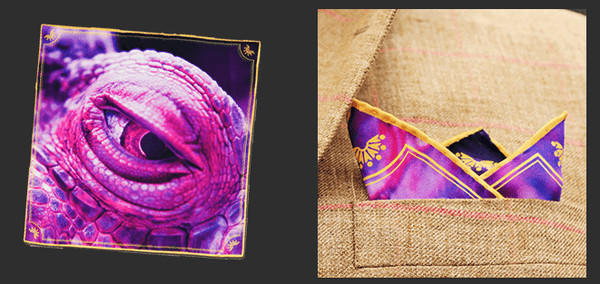 Eye Silk Pocket Square - Mule Ties