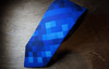 Blue Lagoon Pixelated Skinny Neck Tie - Mule Ties
