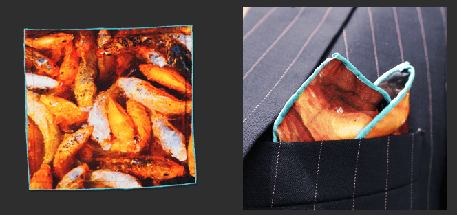 Marine Silk Pocket Square - Mule Ties