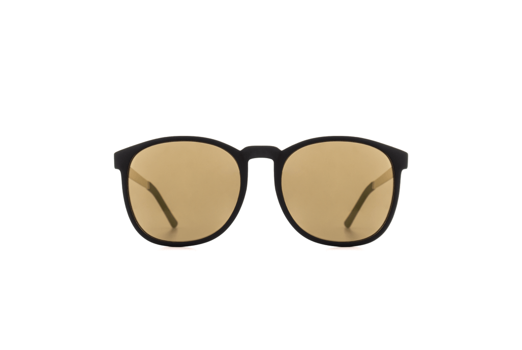 Komono - Metal Series Black Gold Urkel Sunglasses - Mule Ties