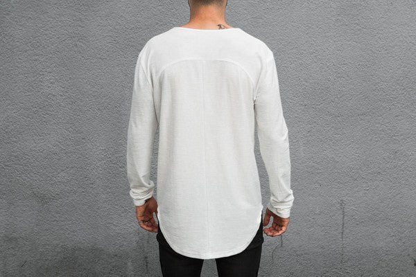 Scooped Long Sleeve x Off White - MuleTies - 3